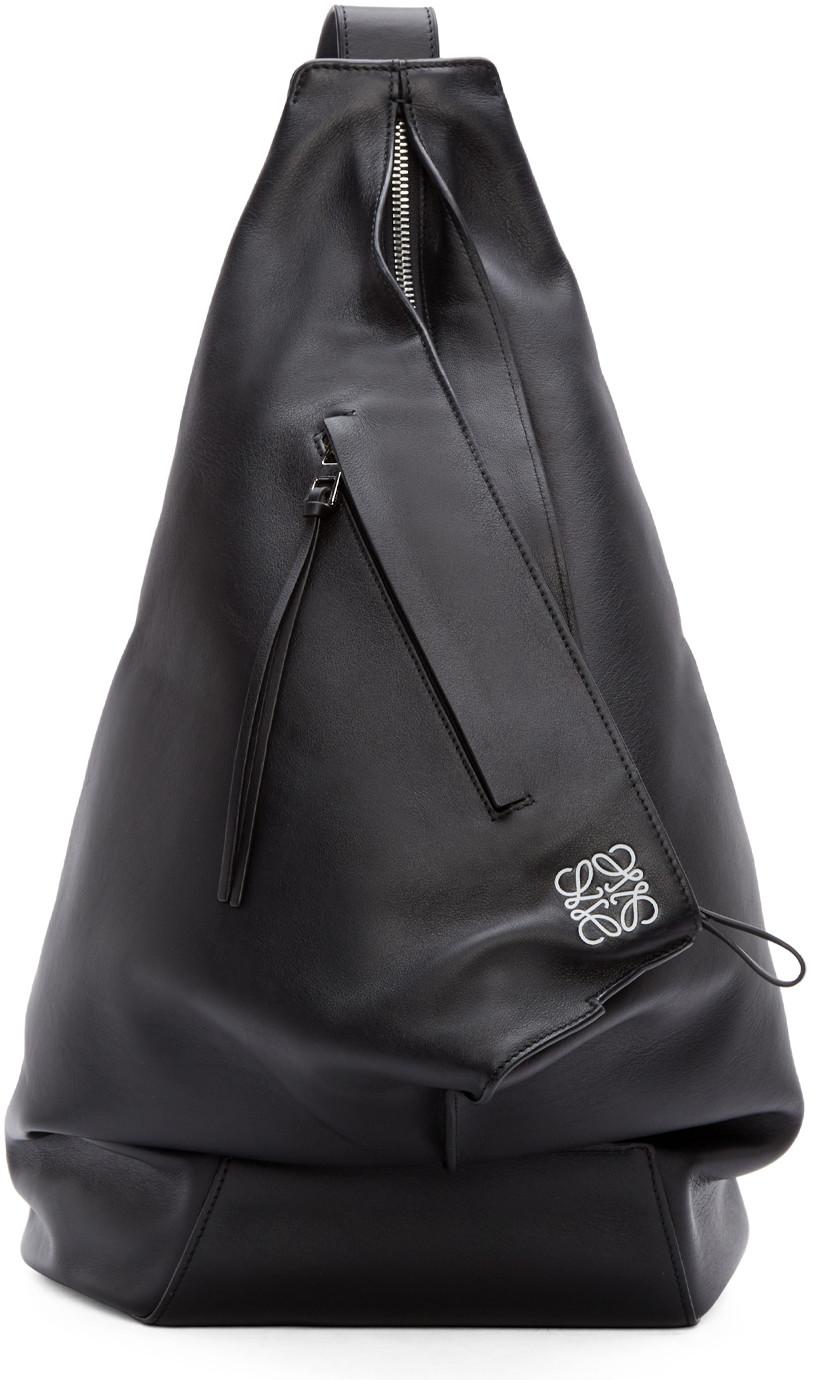 Loewe Men's Rucksack Backpack Travel  Anton In Black
