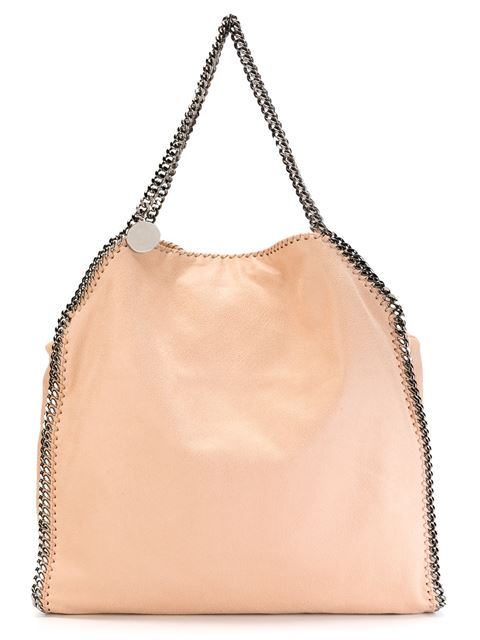 Stella Mccartney Large Peach Falabella Tote Bag In Pink