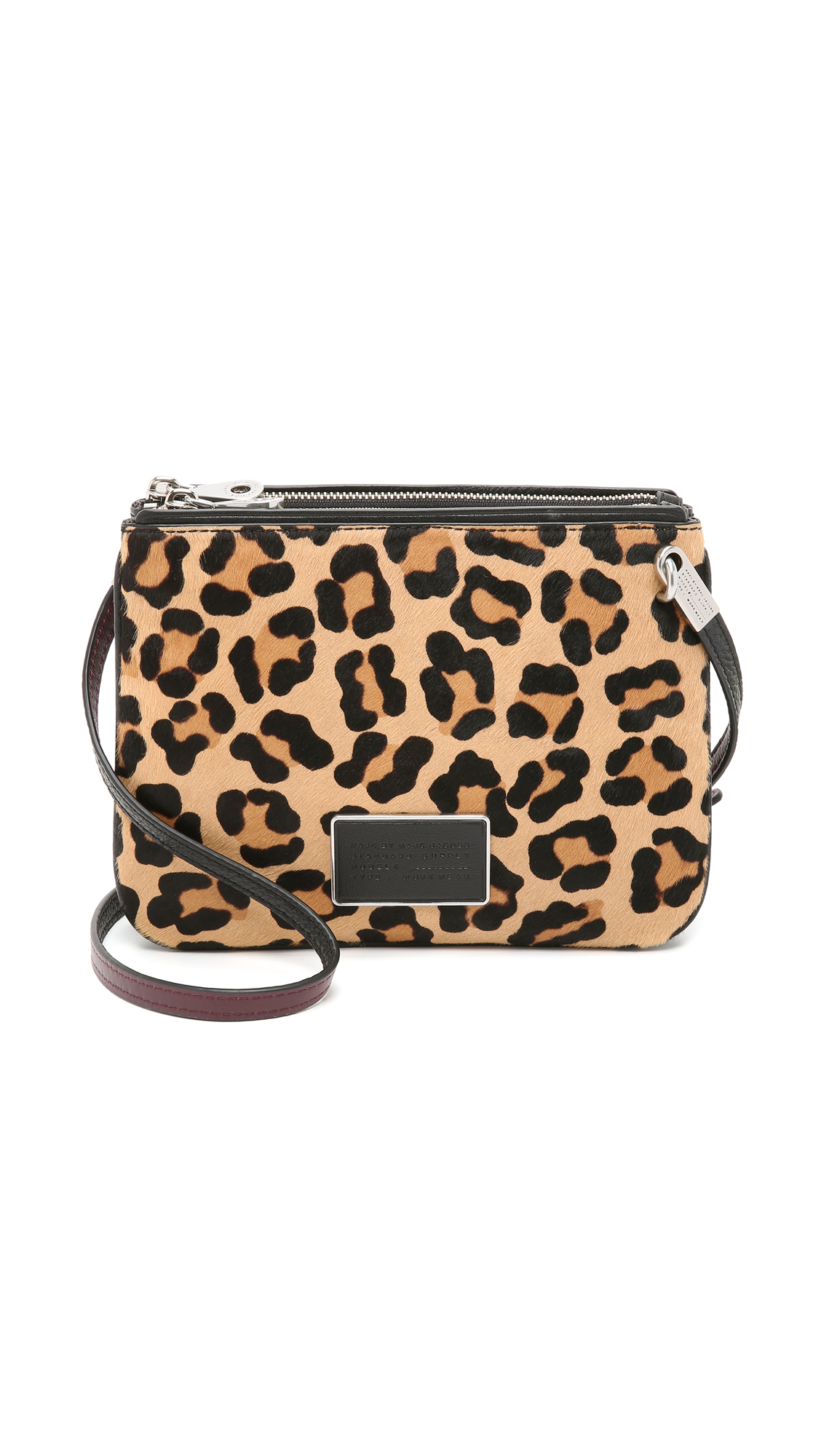 0120cf53cc11 Marc By Marc Jacobs Ligero Leopard-Print Calf Hair Double Percy Crossbody  Bag