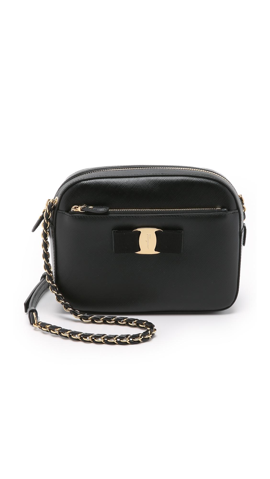 8619825c0e Salvatore Ferragamo Lydia Leather Bow Camera Bag
