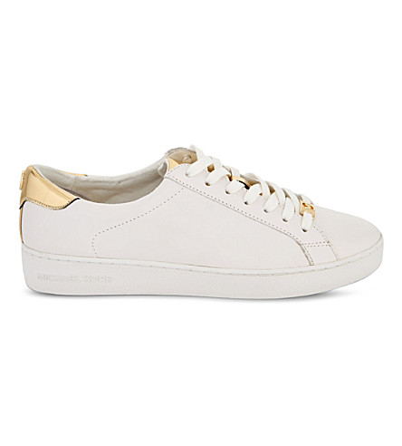 ec3ce7a0a2920 'The Jet Set 6 - Irving' Leather Sneaker (Women) in Optic/Pale Gold