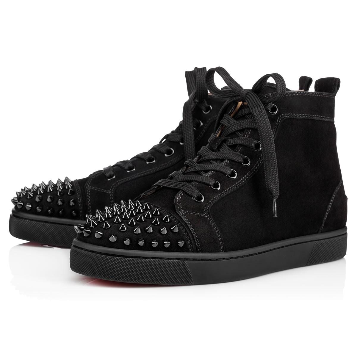 771e565d80a Crystal-Embellished High-Top Sneakers in Black/Black/Bk