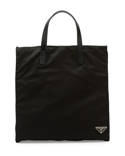 Prada Men's Nylon Tote Bag, Black (nero)