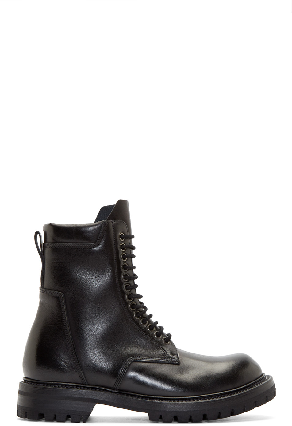 Rick Owens Men's Chunky Wrap-around Army Boots In Black