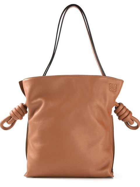 Loewe 'small Flamenco Knot' Calfskin Leather Bag In Tan