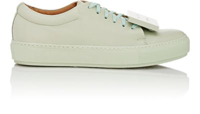 d35763812f012 Acne Studios Green Leather Adriana Turnup Sneakers In Jade