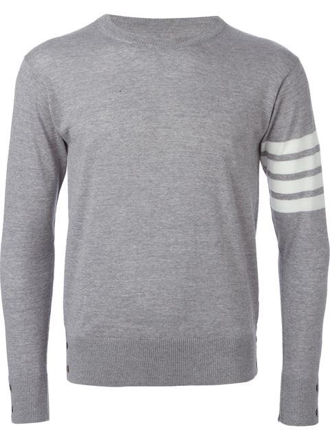 sale retailer 3a1e3 7b095 Merino Wool Crewneck Sweater, Light Gray in Grey