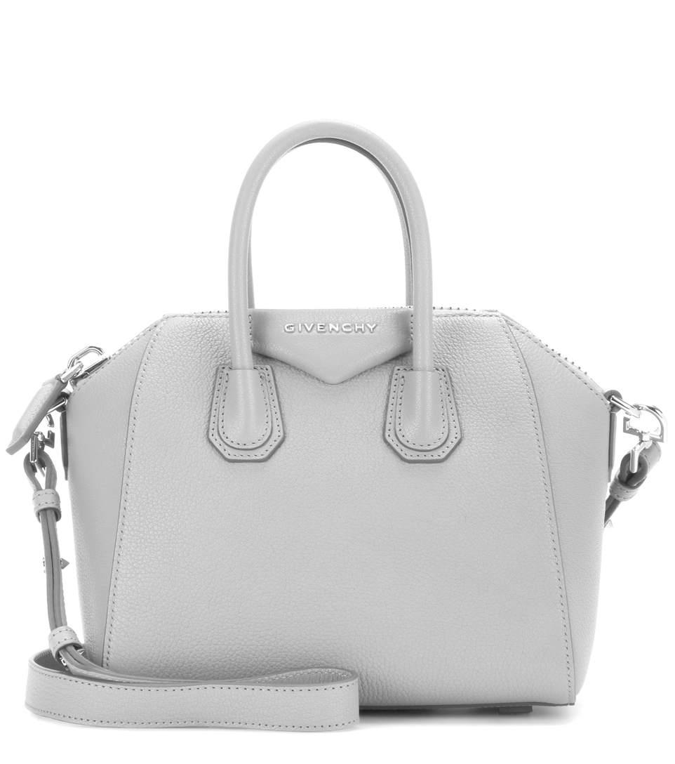 0afa5f8e2c5 Givenchy Antigona Small Leather Satchel Bag, Pearl Gray In 051 Pe Grey