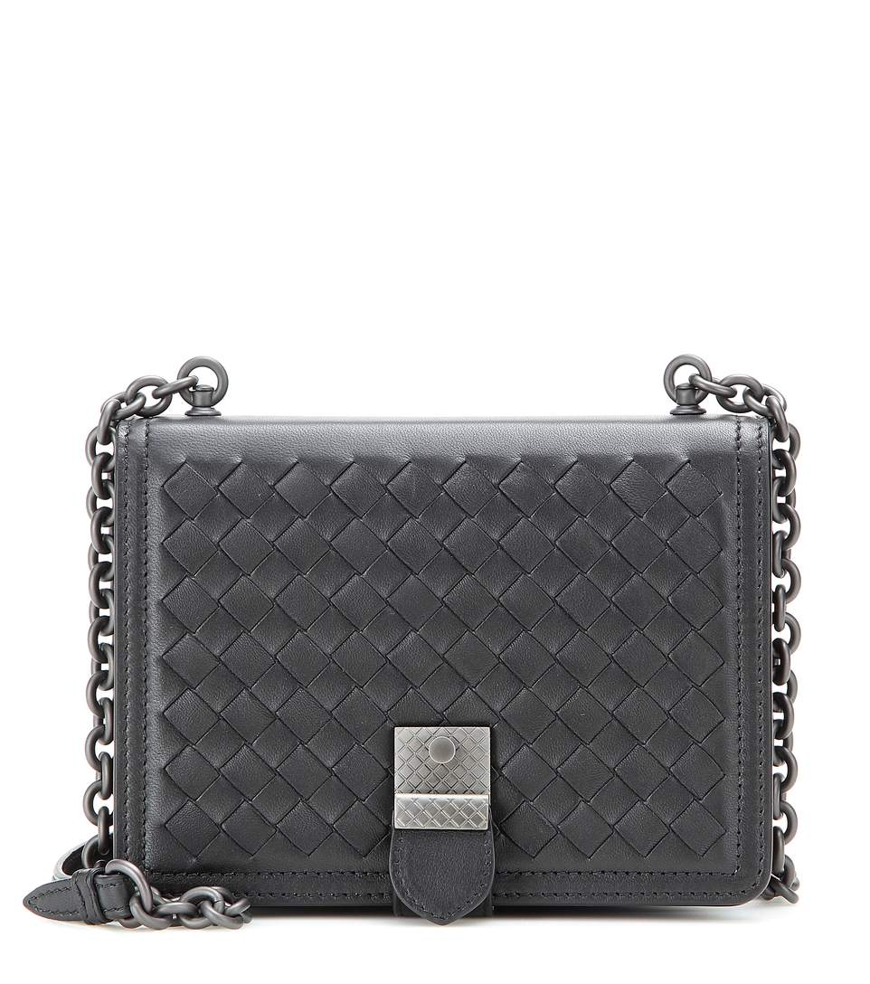 9263d5285486 Bottega Veneta Intrecciato Runway Shoulder Mini Bag In Nero
