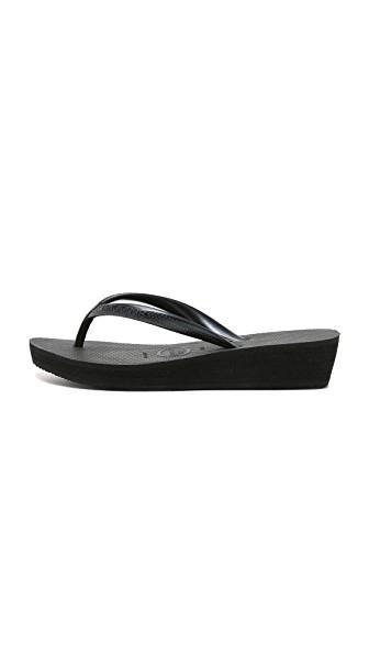 8add1e72defc Havaianas High Fashion Wedge Flip Flops In Black