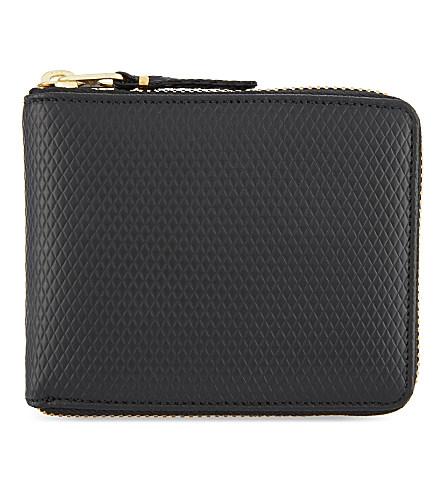 Comme Des GarÇons Leather Zip-around Wallet In Black