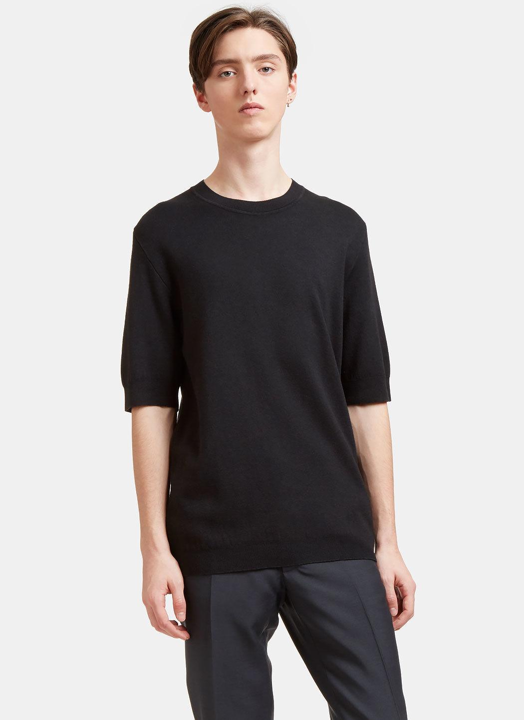 90549156c Aiezen Men's Cashmere And Silk Fine Knit T-Shirt In Black | ModeSens