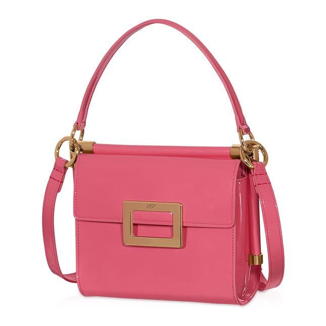 643d48a314d8 Roger Vivier Miss Viv Mini Shoulder Bag In Patent Leather In Pink ...