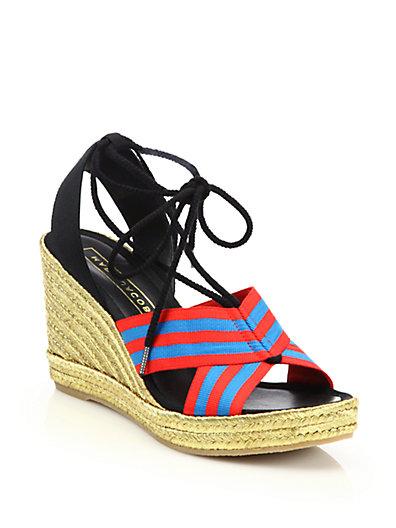 7c92af57243 Marc Jacobs  Dani  Espadrille Wedge Sandal (Women) In Blue Red ...