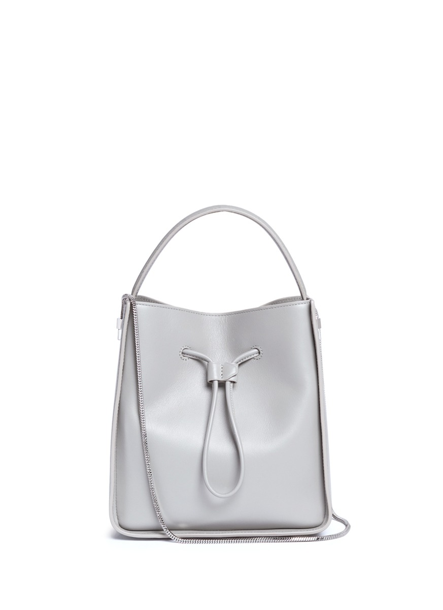 0a83d4c28d8 3.1 Phillip Lim  Soleil  Small Leather Drawstring Bucket Bag In Cement