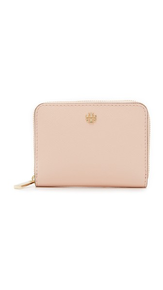 28a40ecd7a48 Tory Burch Robinson Saffiano Leather Zip Coin Case In Pale Apricot ...