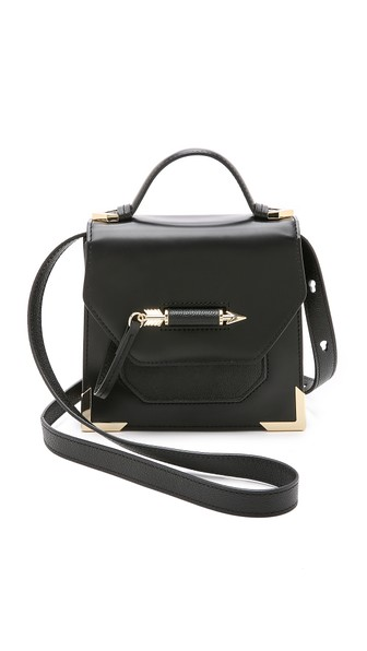 Mackage Mini Rubie Leather Shoulder Bag - Black