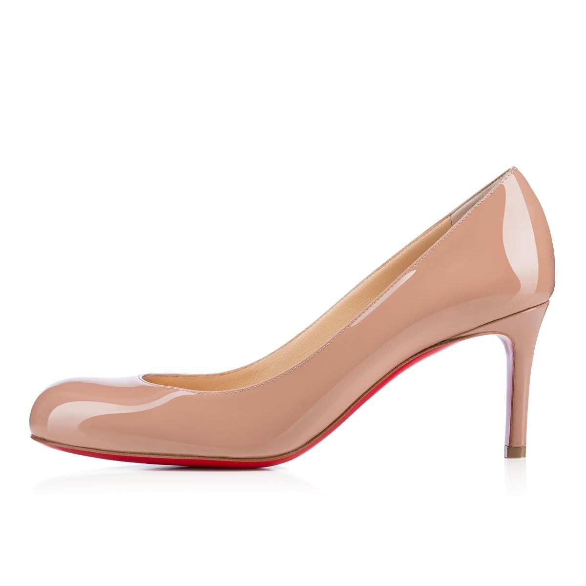 best service 93c41 09f71 Simple Patent Red Sole Pump, Nude