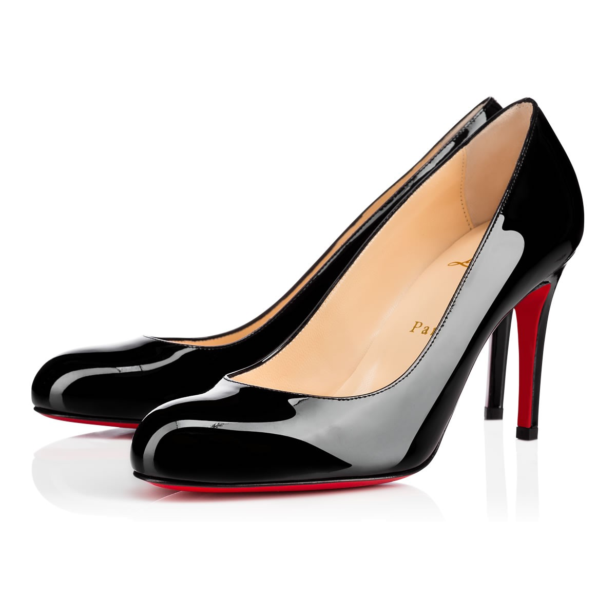 feeb70fc9e Simple Pump. Christian Louboutin's Simple Pump in black patent leather ...