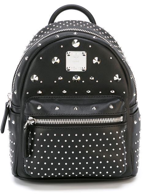 Mcm 'x Mini Stark - Bebe Boo' Studded Leather Backpack In Black