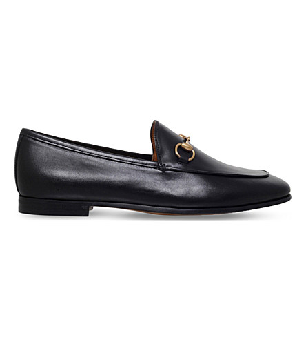 be88540abec Gucci 10Mm Jordan Horsebit Leather Loafers In Black