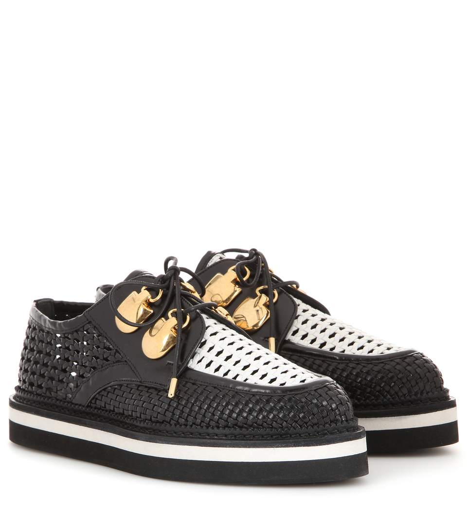 3dbe09e231c Alexander Mcqueen Leather Platform Brogues In Black | ModeSens