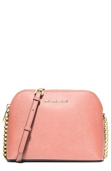 Michael Michael Kors  Large Cindy  Dome Crossbody Bag In Pale Pink ... d2de994c79