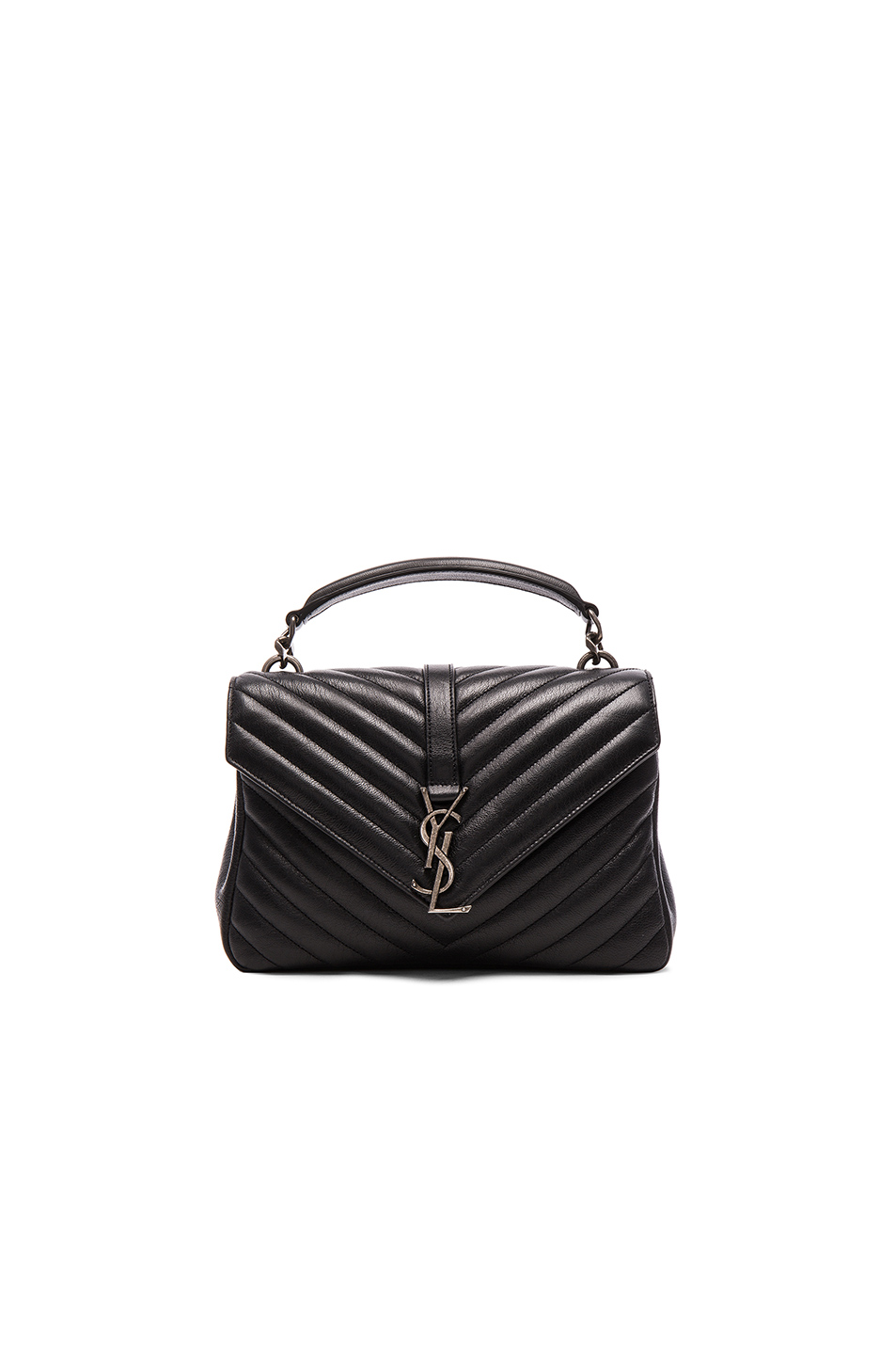 ce236314e9 Saint Laurent CollÈGe Medium Quilted-Leather Cross-Body Bag In Black ...
