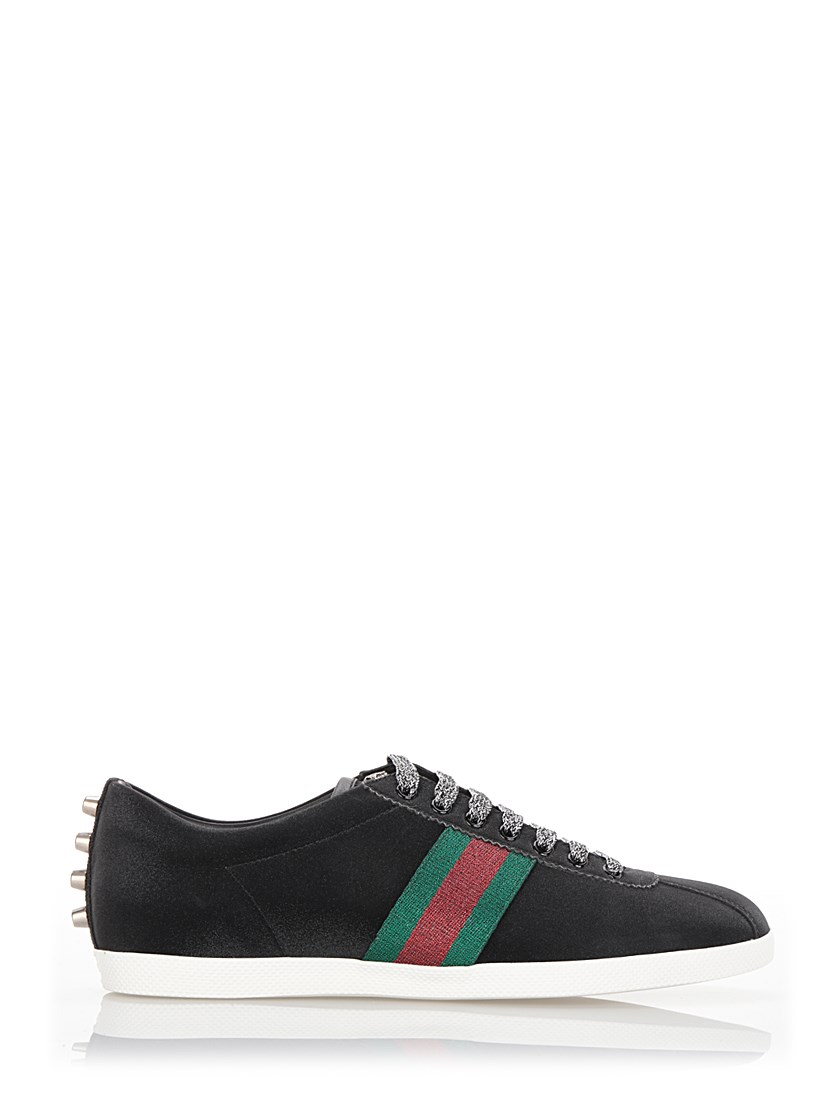 Gucci Bambi Glitter Low-Top Trainers In Black  cbdb17d232