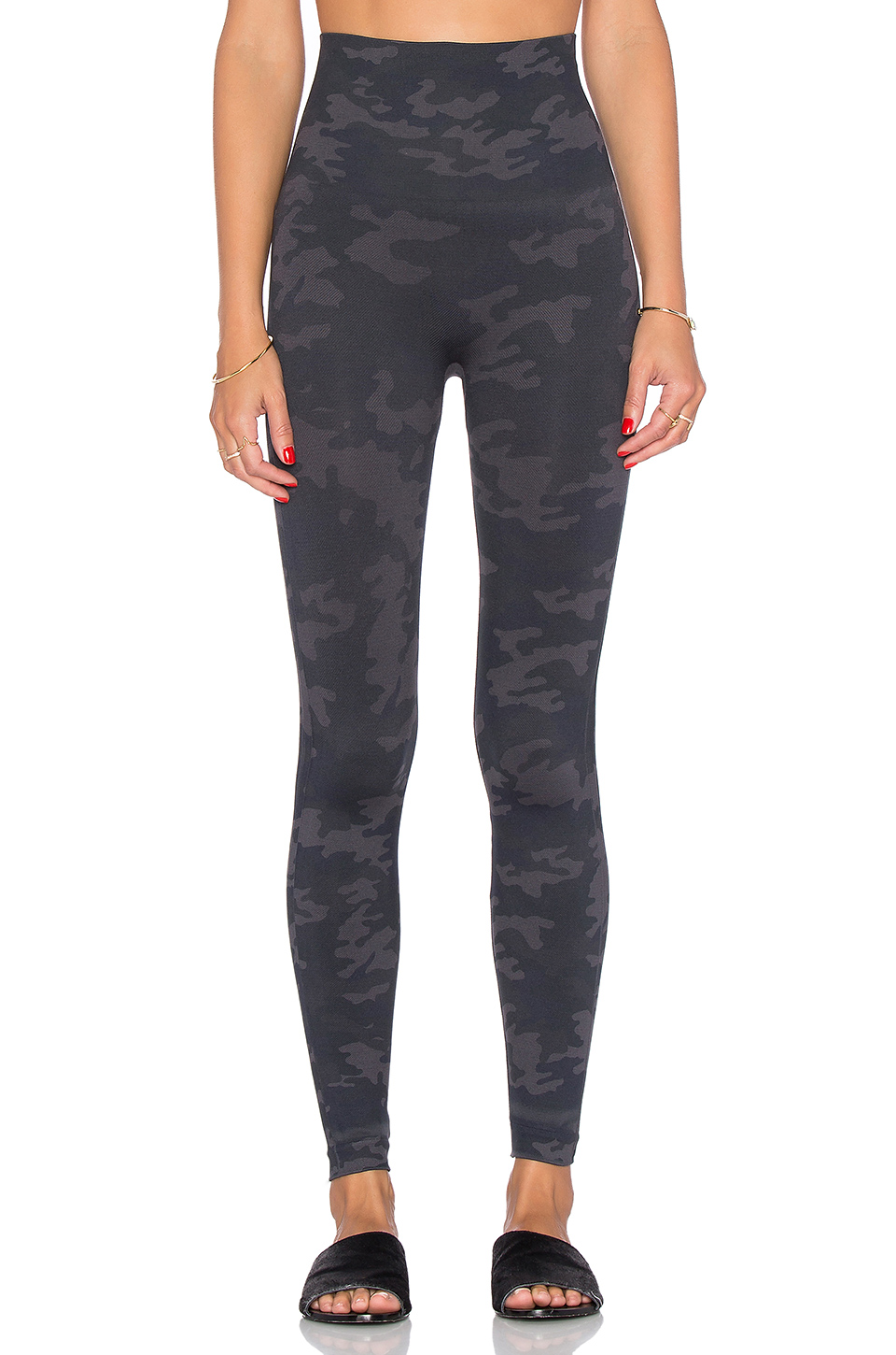 37adc99447d90 Spanx Women's Look At Me Now Tummy Control Camo Leggings In Black Camo