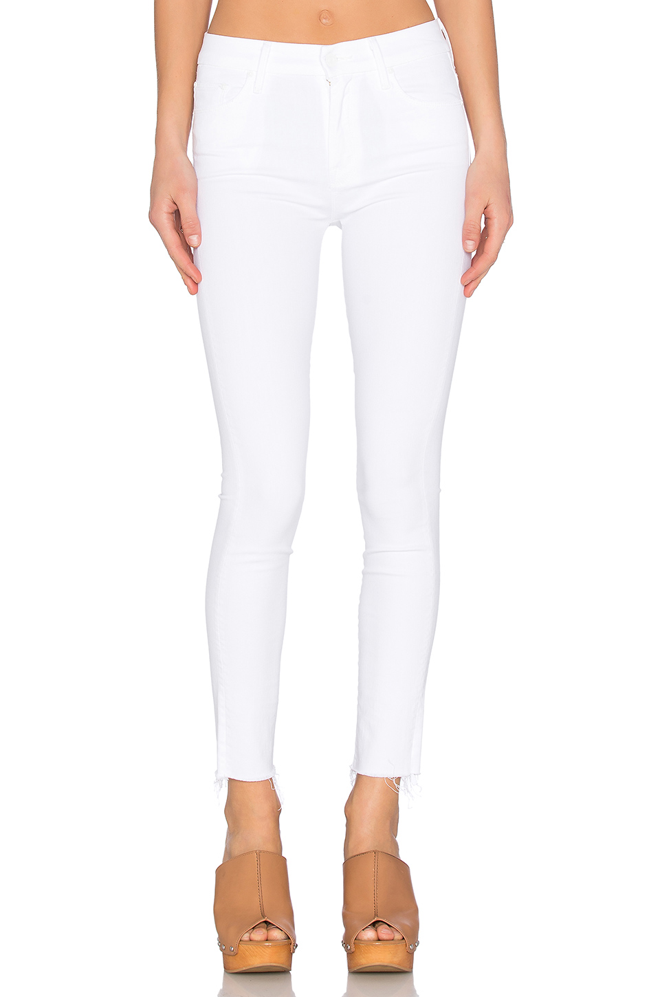 26b200c792812 Mother High Waisted Looker Ankle Fray Jeans In Stayin  Alive