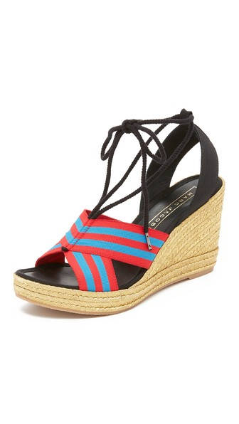 Marc Jacobs 'dani' Espadrille Wedge Sandal (women) In Blue/red