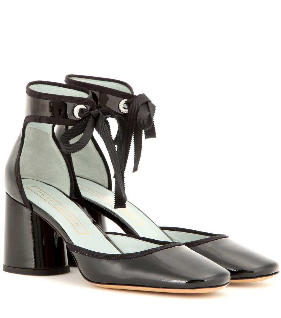 73d8125adcf4 Marc Jacobs Elle Patent Leather Ankle-Strap D Orsay Pumps In Black ...