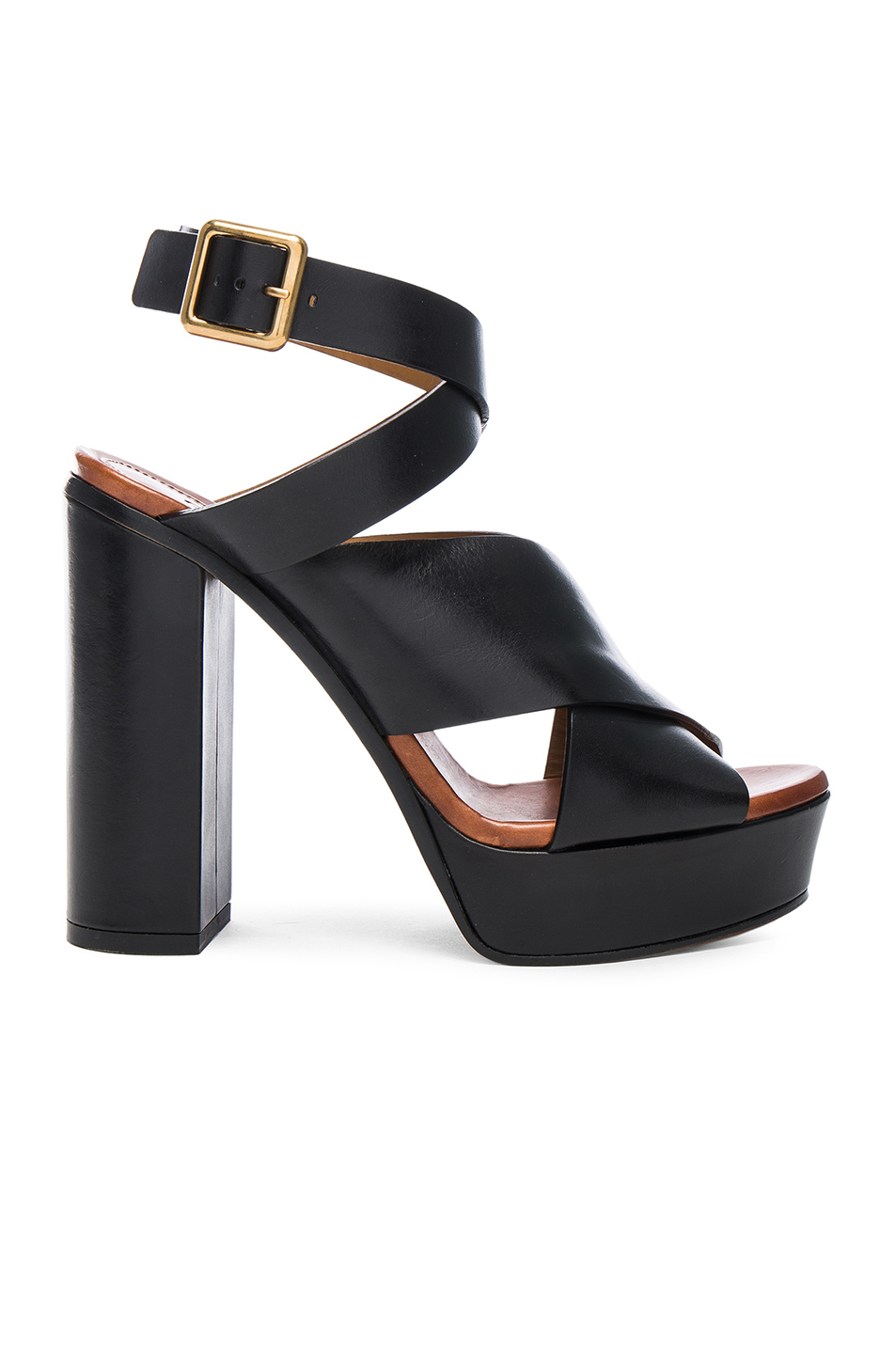 ChloÉ Ankle Strap Platform Sandal (women) In Black