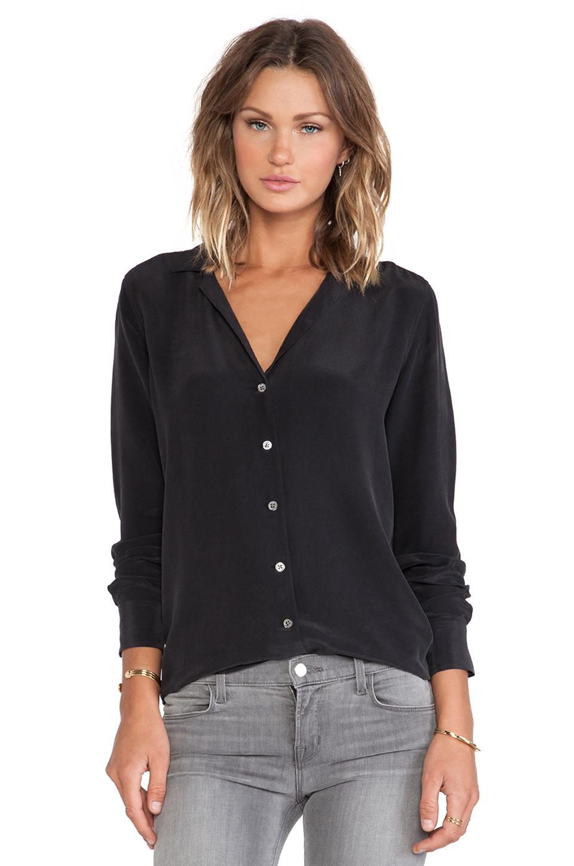 8ecabdb3e Equipment Long Sleeve Adalyn Silk Shirt In True Black | ModeSens