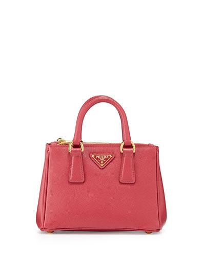 147933dda7a Prada Saffiano Mini Galleria Crossbody Bag, Pink (Peonia)   ModeSens