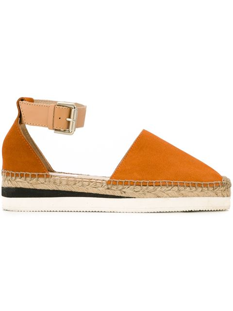 See By ChloÉ Glyn Suede Espadrilles In Orange