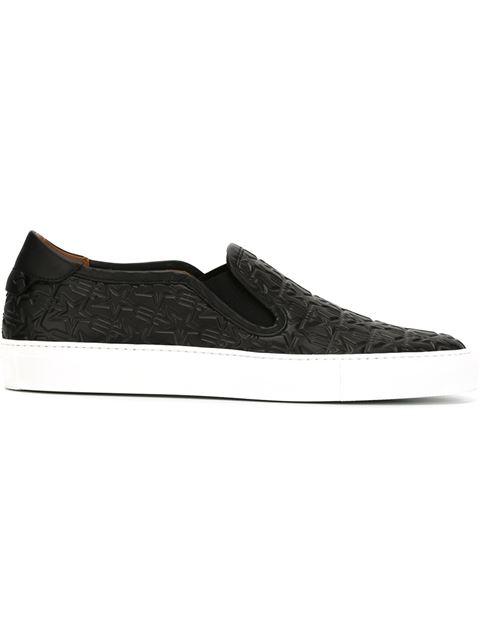 Givenchy Black Trident Street Skate Slip-on Sneakers