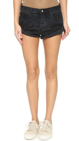2a8ff2eddaa618 One Teaspoon Bonitas Cutoff Shorts In Fox Black | ModeSens