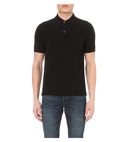 170acafe Tom Ford Short-Sleeved Cotton-PiquÉ Polo Shirt In Black | ModeSens
