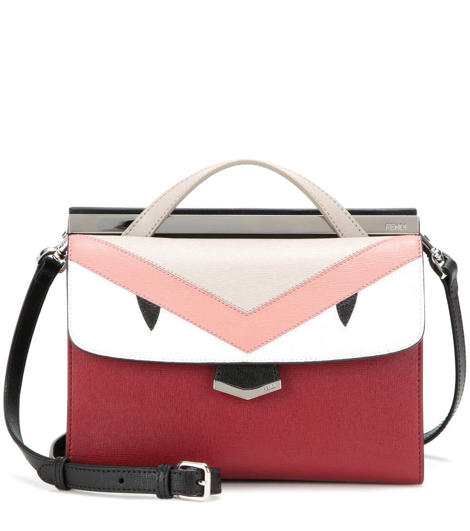62f8faa2d37 Fendi Demi Jour Bag Bugs Small Leather Cross-Body Bag In Riles Powder Coal  Palladium