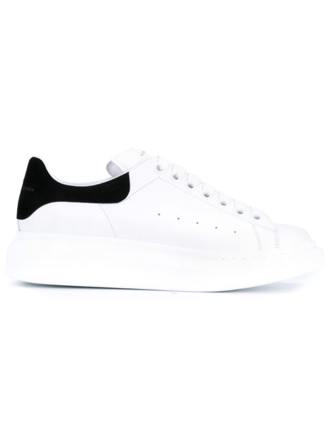 Alexander Mcqueen Suede-Trimmed Leather Exaggerated-Sole Sneakers In 9061Black