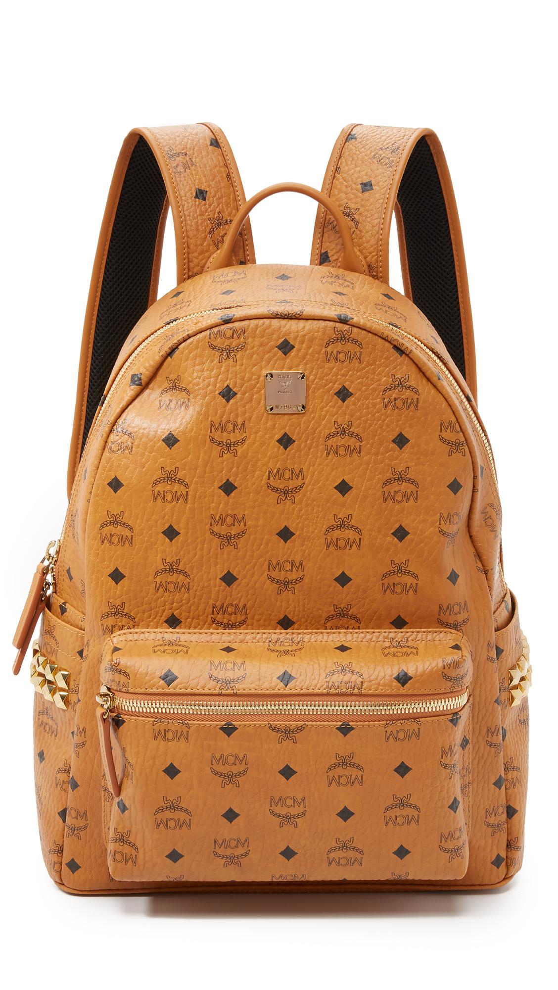 c0582dd9cd2e Mcm Stark Medium Side Stud Backpack In Cognac | ModeSens