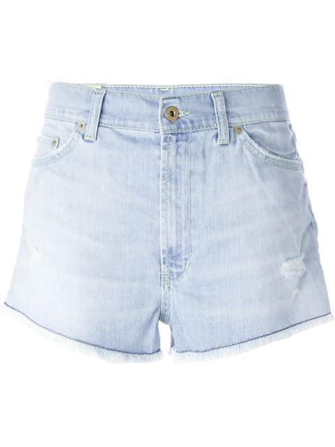 Dondup Denim Shorts In Blue