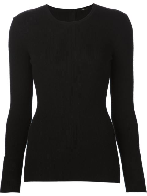 Ribbed Cashmere Open Back Top In Black