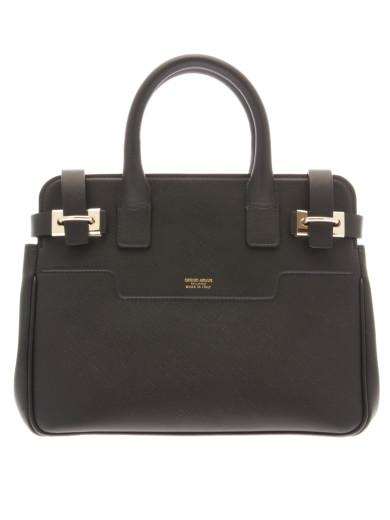 Giorgio Armani Dakar Saffiano Leather Small Bag In Black  57dd58f148cce
