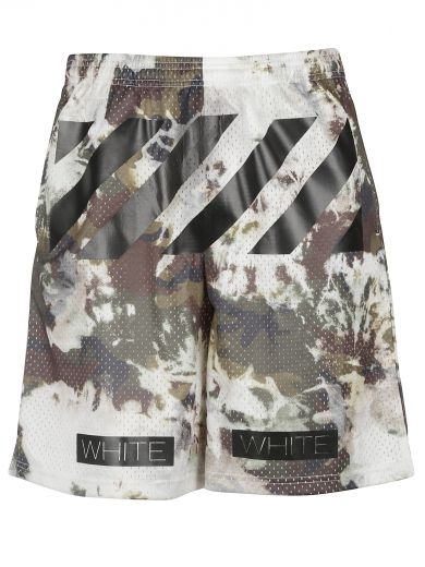 Off-White C O Virgil Abloh Camouflage Mesh Shorts In Camuflage ... 02586f9b2