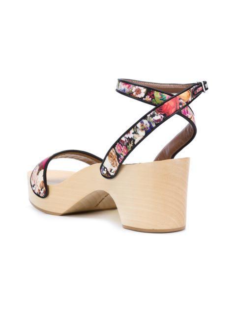 b8450ea5498 Tabitha Simmons Sadie Ankle-Strap Clog Sandals In Multicolour