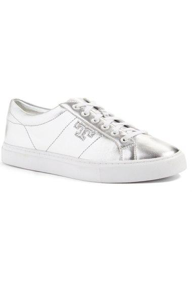 f1b1d1ae04e01c Tory Burch  Chace  Low Top Sneaker (Women) In Silver Metallic Nappa ...