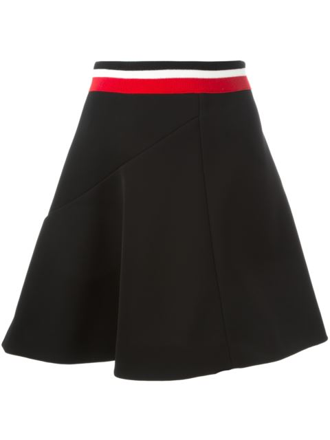 Marni Ribbed Stripe Waistband Skirt In Black